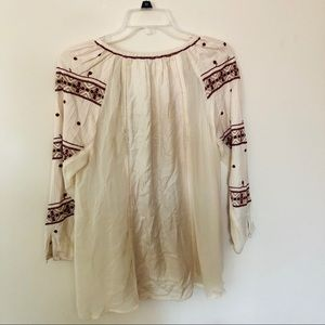Lucky Brand Tops - Lucky Brand Boho Inspired Embroidered Peasant Top